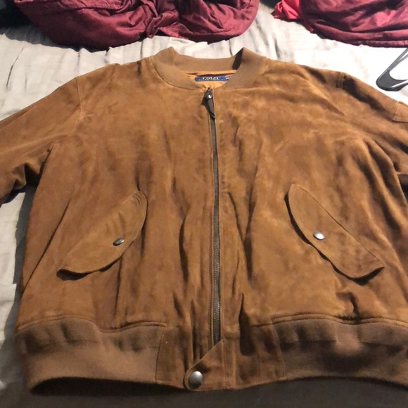 c35a9d031a Ralph Lauren suede bomber jacket. M 5b0862ff2ae12f4effc70225. Other Jackets    Coats you may like. Rare Polo RL Varsity Jacket Leather ...